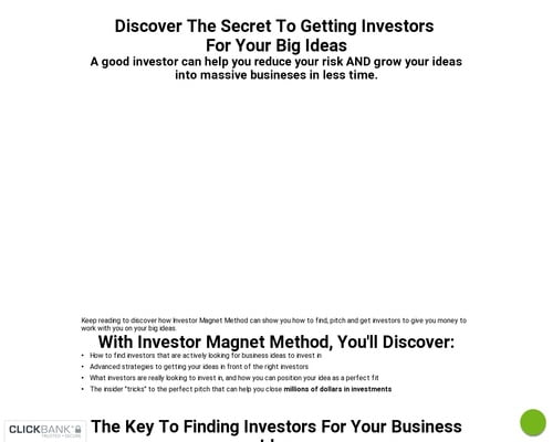 Investor Magnet Method (Closing Soon)