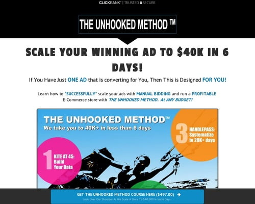 The Unhooked Method - Manual Bidding Case Study For Facebook