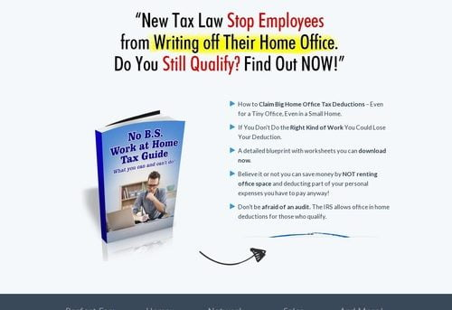 specialoffercb — No B.S. Work at Home Tax Guide