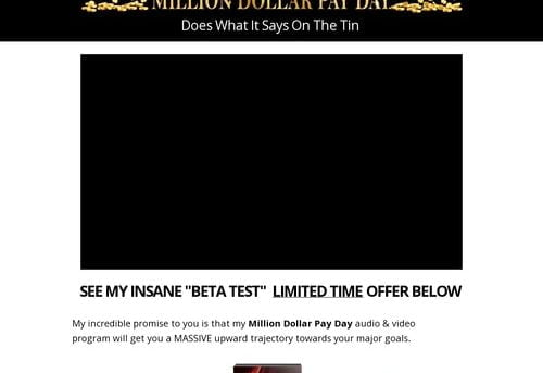Million Dollar Pay Day CB | Mind Power Riches