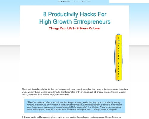 8 Productivity Hacks For Entrepreneurs - Crazy Conversions Boost