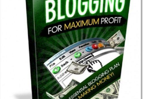 Blogging For Maximum Profit Internet Marketing Work Online Make Money +Bonus