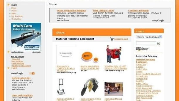 Completed Handling Equipment Online Store Business Website For Sale! Free Domain