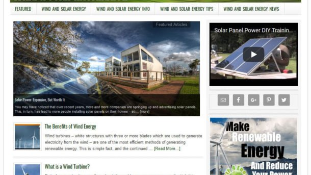 * WIND AND SOLAR ENERGY * website business for sale w/ AUTO-UPDATING CONTENT!!