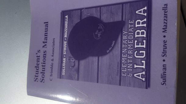 Elementary and Intermediate Algebra Student Solutions Manual School Answer Guide