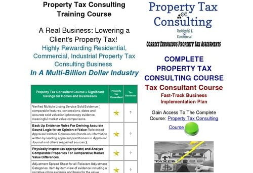 Property Tax Appeal Consulting Business Course: An Evergreen Consulting Business That Needs Consultants