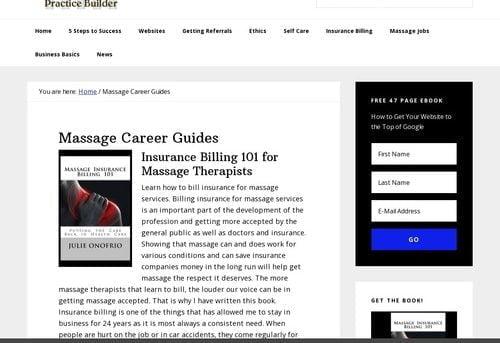 Massage Practice Builder: Ebooks And Membership Program
