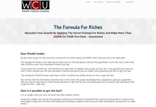 The Formula For Riches