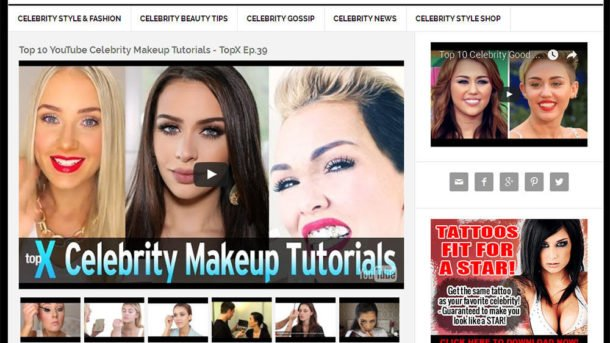 * CELEBRITY GOSSIP & STYLE * blog website business for sale w/ AUTOMATIC CONTENT