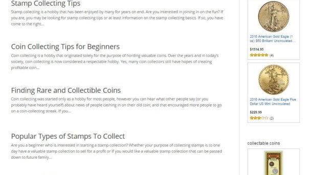 COINS and STAMPS COLLECTING WEBSITE BUSINESS FOR SALE! MOBILE FRIENDLY