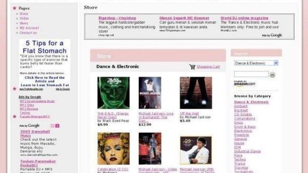 Dance & Electronic MP3 Store Business Website For Sale! High Potential Income!