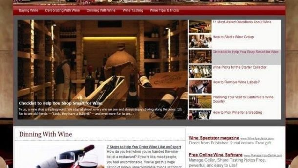 Professional Top Wine Lover Store Business Website For Sale! Make Money At Home!