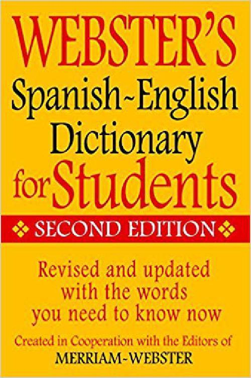 Webster'S Spanish-English Dictionary For Students, Second Edition (English And S