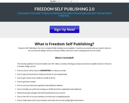 Freedom Self Publishing - Kindle Publishing Training Course