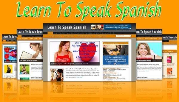 Learn To Speak Spanish Blog Self Updating Website with Clickbank Amazon Adsense