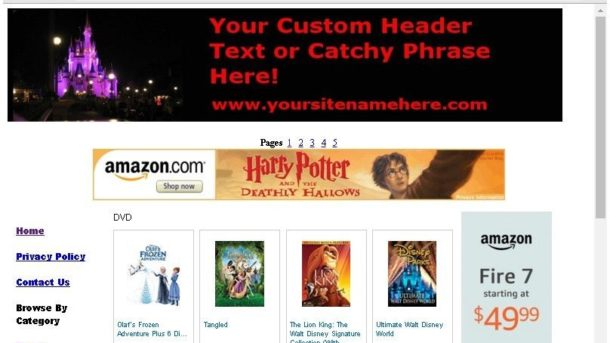 Profitable Disney Store Website For Sale Free Domain,Setup,Bonuses