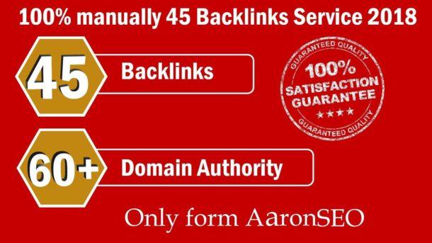 45 Backlinks from High-DA-60+ Domains- Skyrocket Google Ranking SEO Search