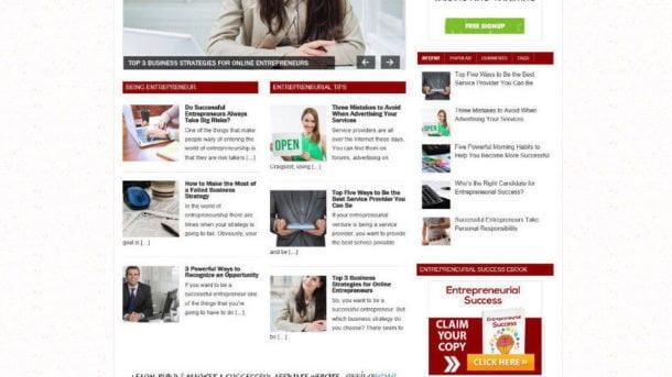 BECOME A SUCCESSFUL ENTREPRENEUR ADVICE STORE & AFFILIATE WEBSITE + DOMAIN