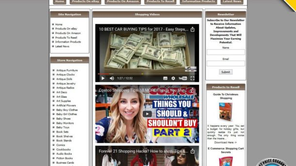 Make Money with eBay Amazon Google Adsense Clickbank Affiliate Store Website!