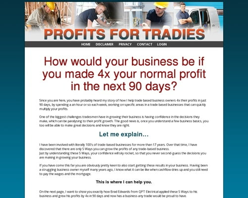 Profits For Tradies | Profits For Tradies