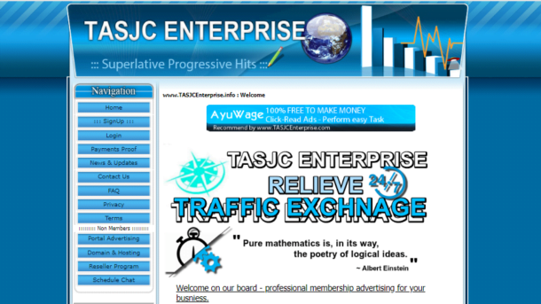 Website professional Traffic Exchange surf ventrino script + domain name