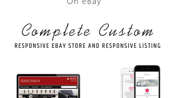 eBay store design and ebay listing HTML template Fully custom 2018 design