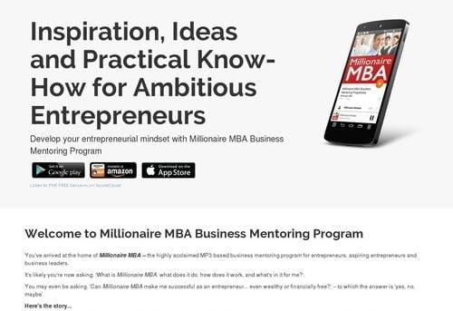 Millionaire MBA Business Mentoring Program