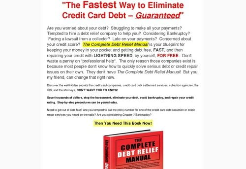 The Fastest Way to Eliminate Credit Card Debt | The Complete Debt Relief Manual