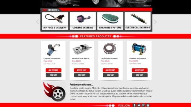 Auto, Car, Racing PSD Graphic Design Photoshop Template eCommerce Web Design