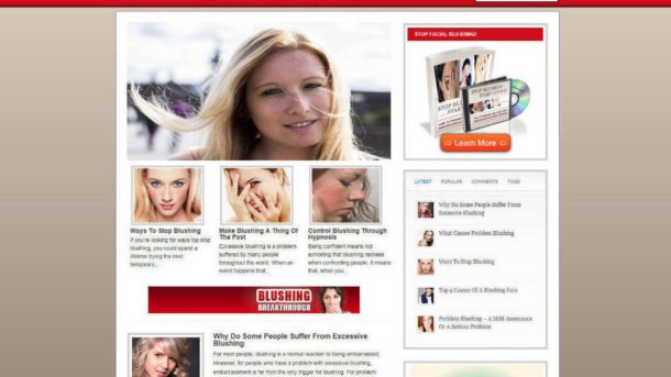 BLUSHING HELP WEBSITE& STORE WITH AFFILIATES + NEW DOMAIN & PROFESSIONAL DESIGN