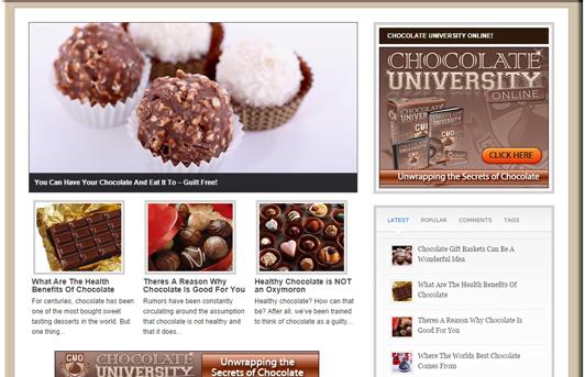 Chocolate PLR Blog w/FREE 1 Year Hosting & FREE SSL