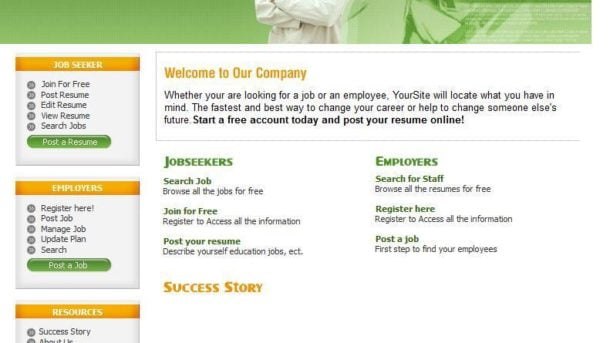 Doctor Job Search Website, Optional Hosting, Free Domain For 1 Year