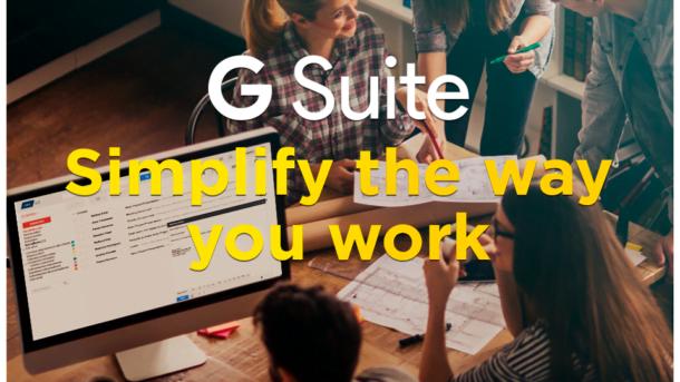 G Suite : 3 user accounts (30GB Each) + Domain Name: 1 .COM + Control Panels