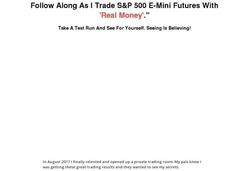 New: Secret Society Live Futures Trading Room