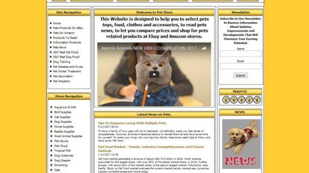 PET SUPPLY, Cat Food, Online Affiliate Business Website, Hosting, Free Domain