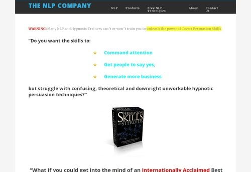 Persuasion Skills on Steroids Deconstructed Main Info Page - The NLP Company