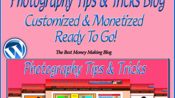 Photography Tips & Tricks Blog Self Updating Website - Clickbank Amazon Adsense*