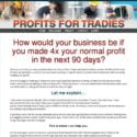Profits For Tradies   Profits For Tradies