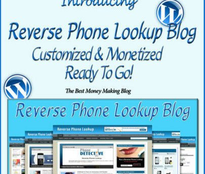 Reverse Phone Lookup Blog Self Updating Website - Clickbank Amazon Adsense Pages