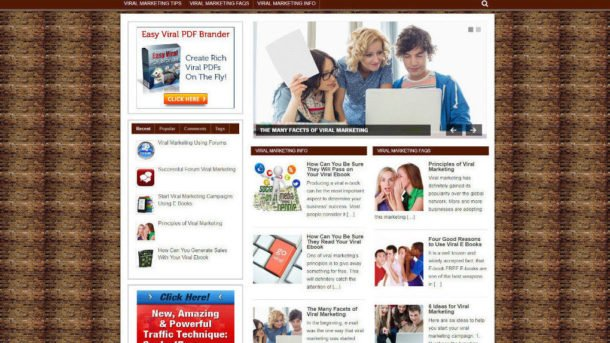 VIRAL MARKETING TIPS AFFILIATE WEBSITE WITH NEW DOMAIN - PRO THEME - VIDEOS