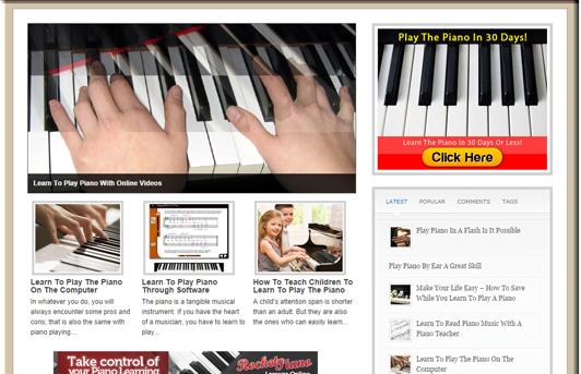 WordPress Learn Piano PLR Site Blog w/FREE 1 Year Hosting & FREE SSL