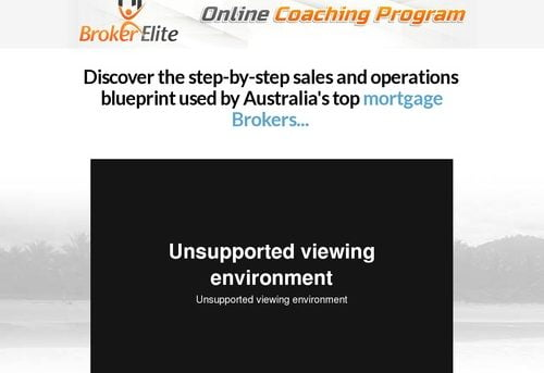 Broker elite online coaching program — Broker Elite