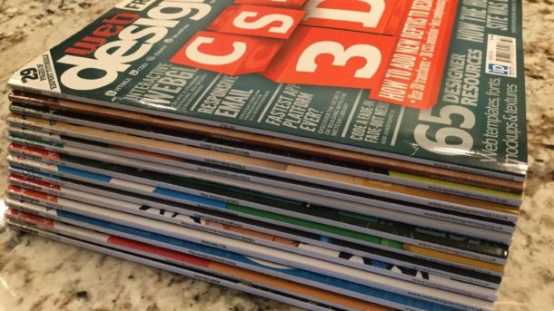 7 Issues of Web Designer Magazine # 218 220 221 222 223 224 225 CSS HTML PHP SQL
