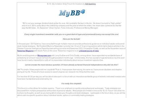 A Forum For Investors & Traders - Bio Forum By Bill Spetrino