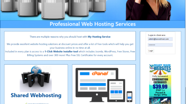 Become a Webhosting Reseller Responsive Layout theme1 Automated Billing System