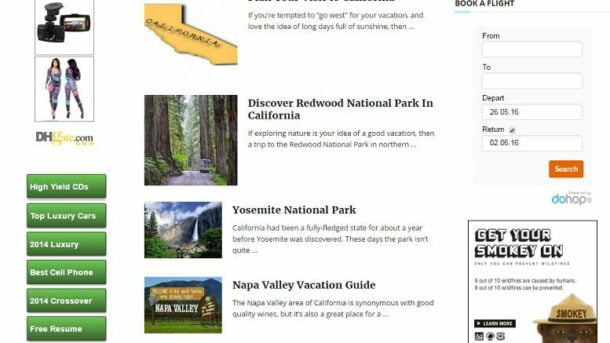 CALIFORNIA VACATION WEBSITE FOR SALE! EARN & BOOKING HOTELS/FLIGHTS/ATTRACTIONS