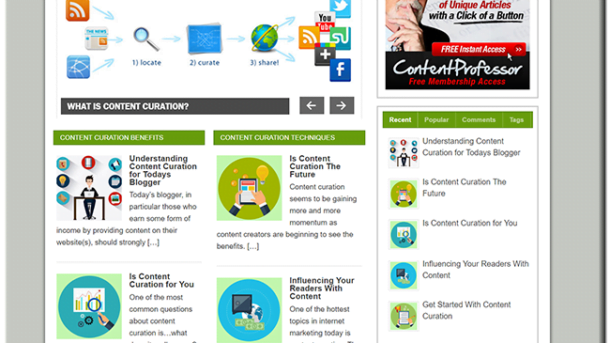 Content Curation Ready  Turnkey Website Business earn from affiliate - adsense