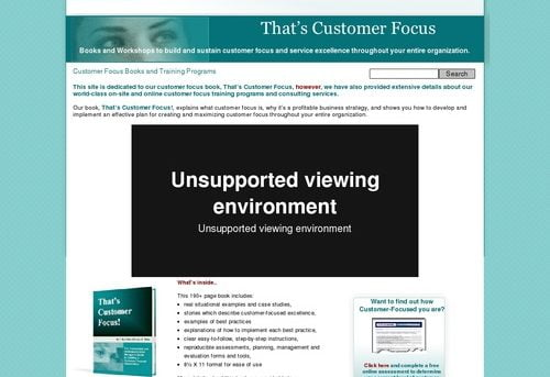Customer Focus Books | Training Programs >>That's Customer Focus