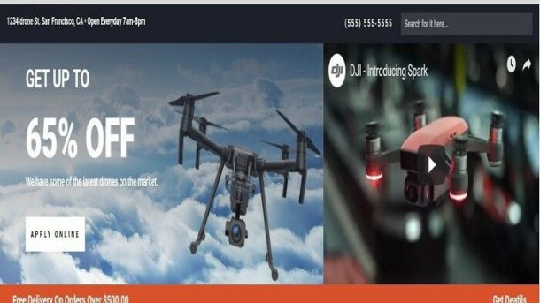 DRONE SHOP Wordpress Website /woocommerce/Ebay/amazon/aliexpress ready