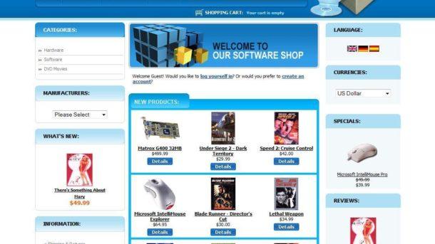 ECOMMERCE ONLINE COMPUTER SOFTWARE SHOP STORE SHOPPING CART WEBSITE